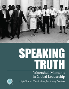 Speaking Truth curriculum cover art