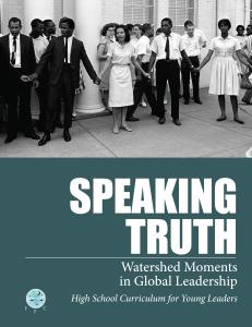 Speaking Truth curriculum cover art