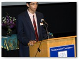 Anirudha Balasubramanian at podium
